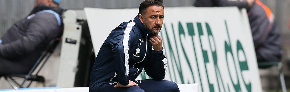 Die besten Online Sportwetten Close-up Trainer am Spielfeldrand Pereira 1860 Köln
