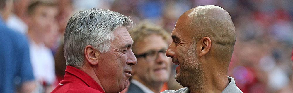 Die besten Online Sportwetten Close-up Gesicht Fussballspiel zwei Trainer auf dem Spielfeld