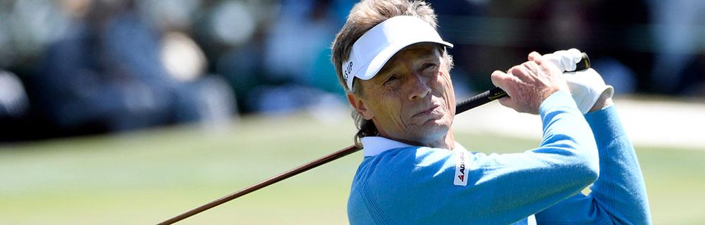 Die besten Online Sportwetten Close-up Golfspieler Bernhard Langer