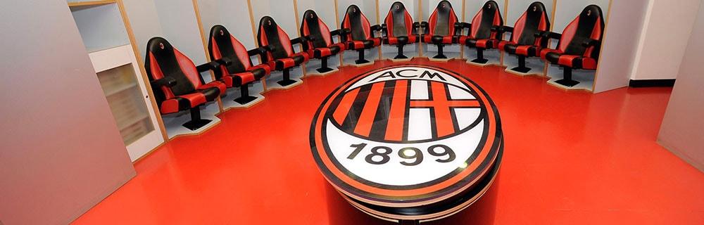 Die besten Online Sportwetten Umkleidekabine AC Mailand 1899 Logo