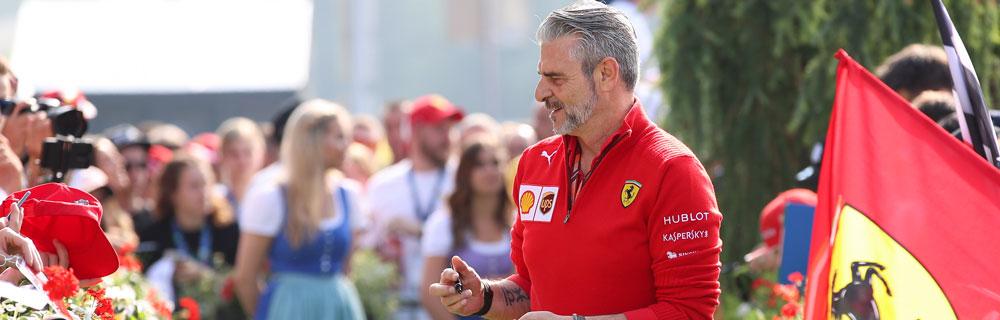 Die besten Online Sportwetten Close-up Formel1 Teamchef Ferrari Flagge