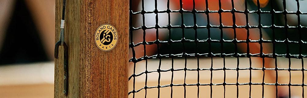 Die besten Online Sportwetten Close-up Details Tennisnetz