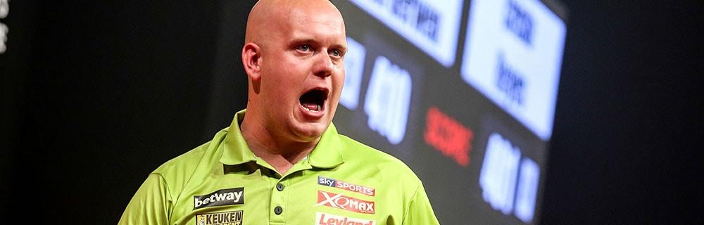 Die besten Online Sportwetten Darts Close-up Gesicht Dartspieler
