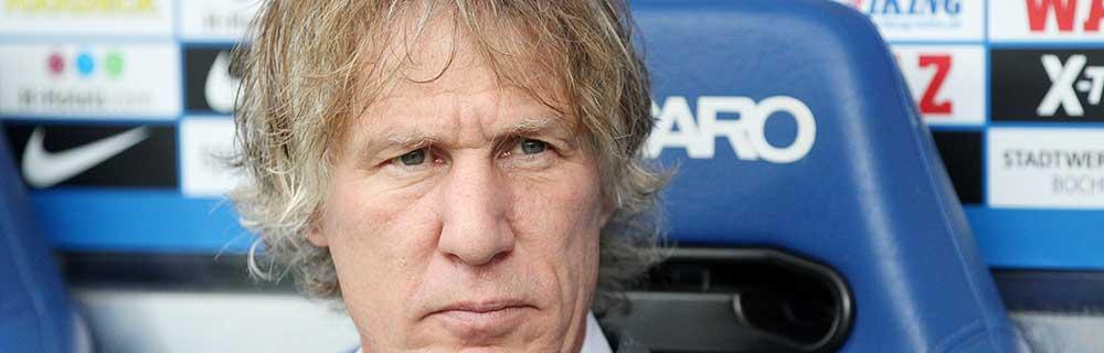 Die besten Online Sportwetten Close-up Gesicht Fussball Trainer Gertjan Verbeek