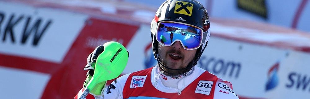 Die besten Online Sportwetten Close-up Skiläufer Hirscher