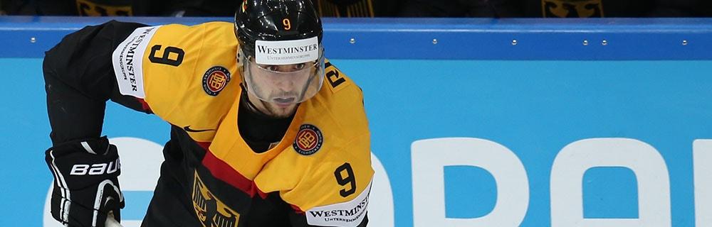 Die besten Online Sportwetten Close-up Eishockeyspieler auf dem Eis