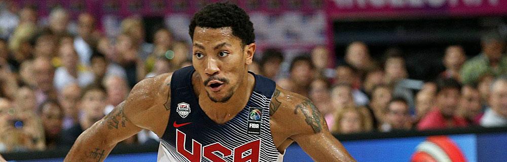 Die besten Online Sportwetten Close-up Basketballspieler auf dem Spielfeld