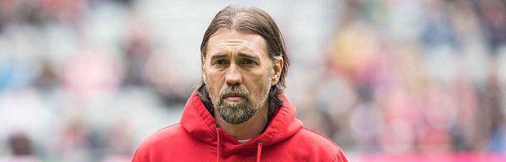 Die besten Online Sportwetten Close-up Gesicht Fussball Trainer Schmidt