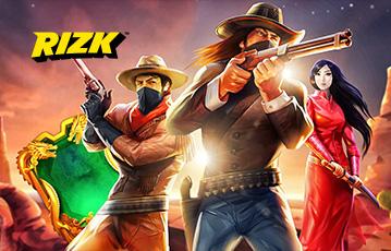 Die besten Online Casino Spiele rizk Illustration Spielefiguren Cowboys asiatische Kämpferin