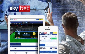 Die besten Online Sportwetten bei skybet smartphone tablet skybet screen Zuschauer Rücken auf Couch schauen Fussball