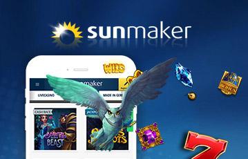 Die besten Online Casino Spiele bei sunmaker smartphone Illustration Uhu fliegt aus screen Diamanten