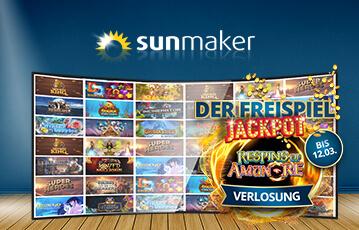 Die besten Online Casino Spiele bei sunmaker Spieleauswahl call to action Freispiel Jackpot Verlosung