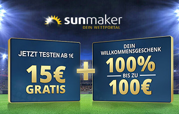 Die besten Online Casino Spiele bei sunmaker call to action 15 Euro testen gratis Willkommensgeschenk 100 Euro