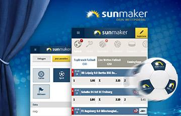 Die besten Online Sportwetten sunmaker Illustration Fussball screen sunmaker
