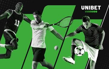 Die besten Online Sportwetten bei unibet drei Sportler in Aktion grün schwarz weiß