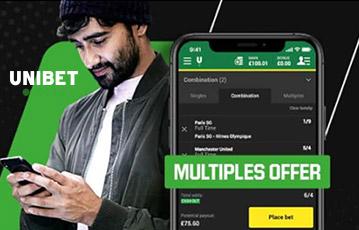 Die besten Online Sportwetten bei unibet mobil smartphone screen unibet junger Mann mit Mütze smartphone in Hand