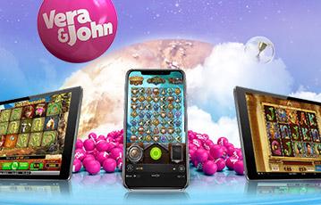 Die besten Online Casinos Vera und John smartphone tablet screen Casino Spiel Spieleautomat