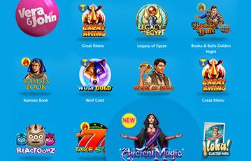 Die besten Online Casinos Vera und John Übersicht Spieleauswahl