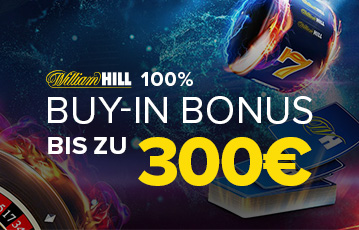 Die besten Online Casinos Spiele bei William Hill call to action buy in Bonus 300 Euro