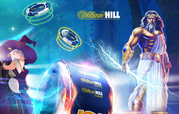Die besten Online Casinos Spiele bei William Hill Illustration Spielefiguren Pokerchips in der Luft