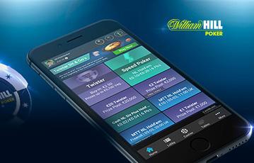 Die besten Online Casinos Spiele bei William Hill smartphone screen Auswahl Pokertische