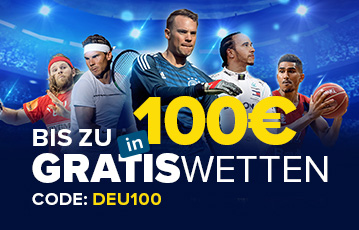 Die besten Online Sportwetten bei William Hill call to action 100 Gratiswetten fünf Sportler