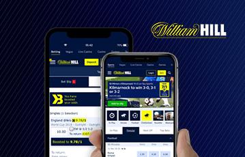 Die besten Online Sportwetten bei William Hill zwei smartphones screen William Hill webseite