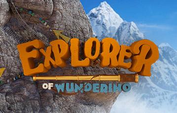 Die besten Online Casinos bei wunderino Schriftzug Explorer Illustration 3D Gebirge