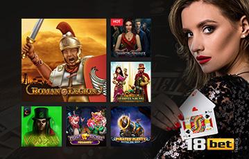 Die besten Online Casinos bei 18bet Frau lange braune Haare mit Spielkarten in der Hand Grafik Spieleauswahl