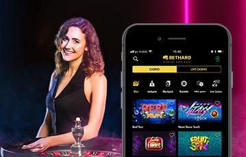Die besten Online Casino Spiele bei bethard mobil App Frau am Roulette smartphone bethard Spieleübersicht