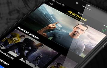 Die besten Online Sportwetten bei bethard mobil App smartphone screen bethard