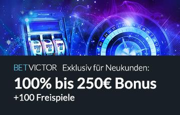 Die besten Online Casinos bei betvictor Neukundenbonus bis 250 Euro Spieleautomat Roulette