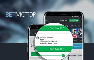 Die besten Online Sportwetten bei betvictor smartphone screen cash out