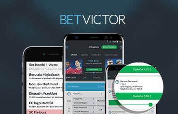 Die besten Online Sportwetten bei betvictor drei smartphone screens cash out