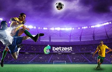 Die besten Online Sportwetten bei betzest Spielefiguren Fussball Fussballfeld Stadion Zuschauertribüne