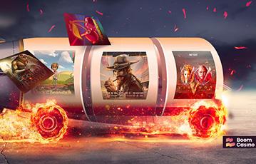 Die besten Online Casinos bei boomcasino die besten deutschen Spieleautomaten Illustration Walze auf brennenden Reifen