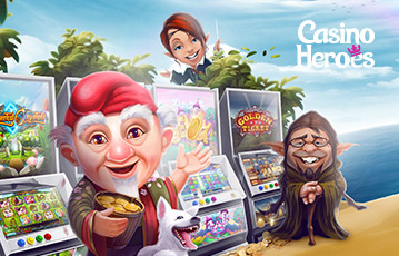 Die besten Online Casino Spiele bei casino heroes Illustration 3D Spiele-Charaktere Spielautomaten