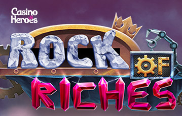 Die besten Online Casino Spiele bei casino heroes Rock of Riches Schriftzug