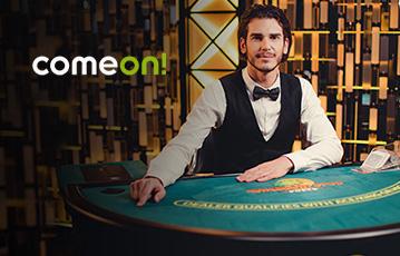 Die besten Online Casino Spiele bei come on die besten Live Spiele Groupier am Pokertisch