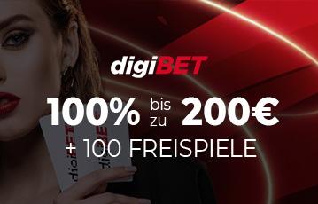 Die besten Online Casino Spiele bei digibet bester Bonus call to action bis zu 200 Euro im HIntergrund close up Frau hält Karten in der Hand
