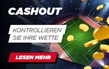 Die besten Online Sportwetten bei digibet call to action cash out Illustration Fussballfeld goldene Münzen Regen