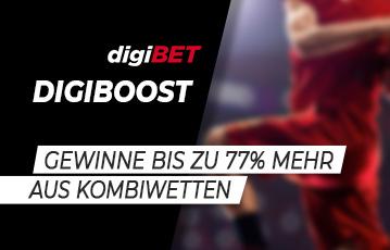 Die besten Online Sportwetten bei digibet call to action digiboost Fussballspieler blurry Hintergrund