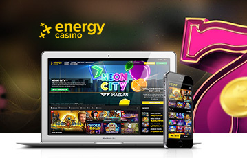 Die besten Online Casino Spiele bei energy casino mobil App laptop smartphone screen energy casino Spiele Übersicht Zahl sieben 3D