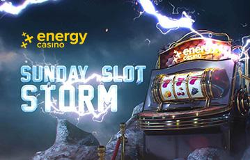 Die besten Online Casino Spiele bei energy casino Illustration Spieleautomat Walze Blitz sunday slot storm