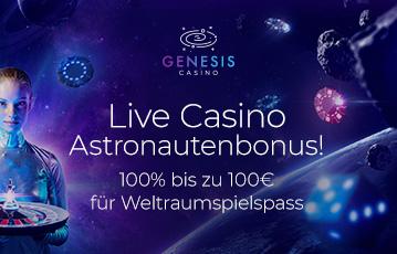 Die besten Online Casinos bei genesis casino call to action live Casino Astronautenbonus Frau hält Roulette fliegende Pokerchips Würfel