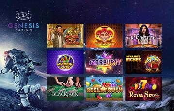 Die besten Online Casinos bei genesis casino Spiele Übersicht Illustration Astronaut