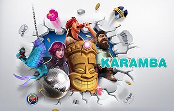 Die besten Online Casinos bei karamba Illustration Spiele-Charaktere und Spiele-Utensilien