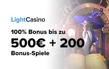 Die besten Online Casinos bei light casino 500 Euro plus 200 Bonus-Spiele Spiele-Charakter