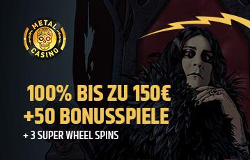Die besten Online Casinos bei metal casino 100 Prozent bis zu 150 Euro Illustration Spiele-Charaktere
