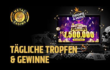 Die besten Online Casinos bei metal casino call to action tägliche Tropfen und Gewinne desktop screen daily drops